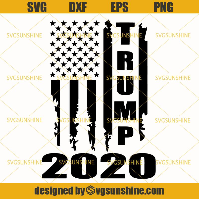 Trump Svg Trump 2020 American Flag Distressed Vintage Svg Svgsunshine