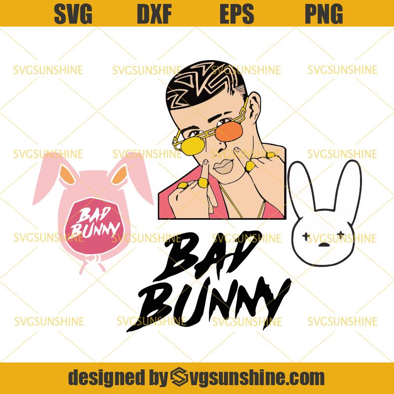 Bad Bunny Svg Bundle Bad Bunny Rapper Svg Bad Bunny Cut Files Svgsunshine