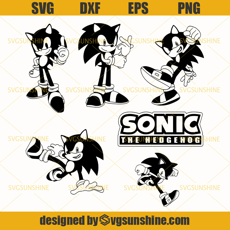 Sonic The Hedgehog Svg Bundle Sonic New Movie Svg Sonic Svg Png Dxf Eps Svgsunshine
