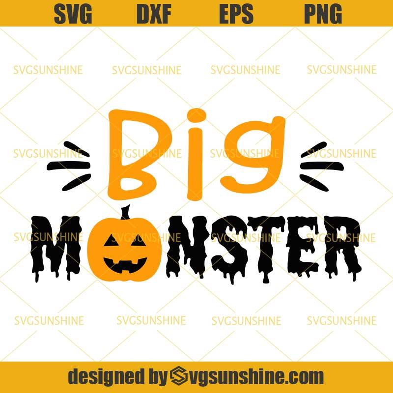 Halloween Big Monster Svg Momster Svg Siblings Svg Brother Halloween Svg Dxf Eps Png Svgsunshine