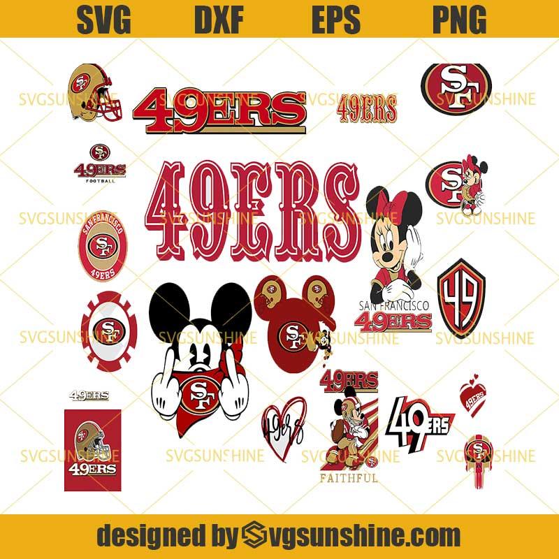 San Francisco 49ers Svg Bundle San Francisco 49ers Logo Svg Nfl Svg Football Svg Bundle Football Fan Svg Svgsunshine