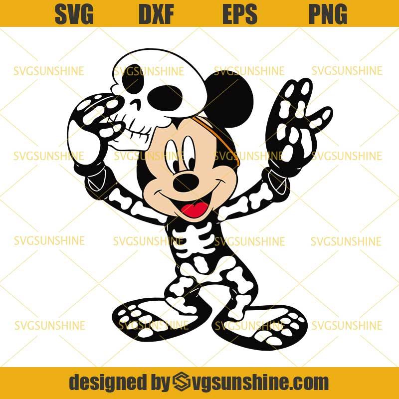 Mickey Mouse Skeleton Halloween Svg Mickey Svg Skeleton Svg Disney Halloween Svg Svgsunshine