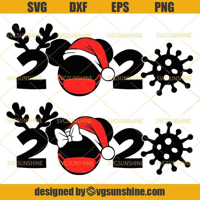 disney christmas 2020 svg bundle mickey minnie mouse with face mask svg christmas quarantine svg mickey santa hat svg svgsunshine disney christmas 2020 svg bundle
