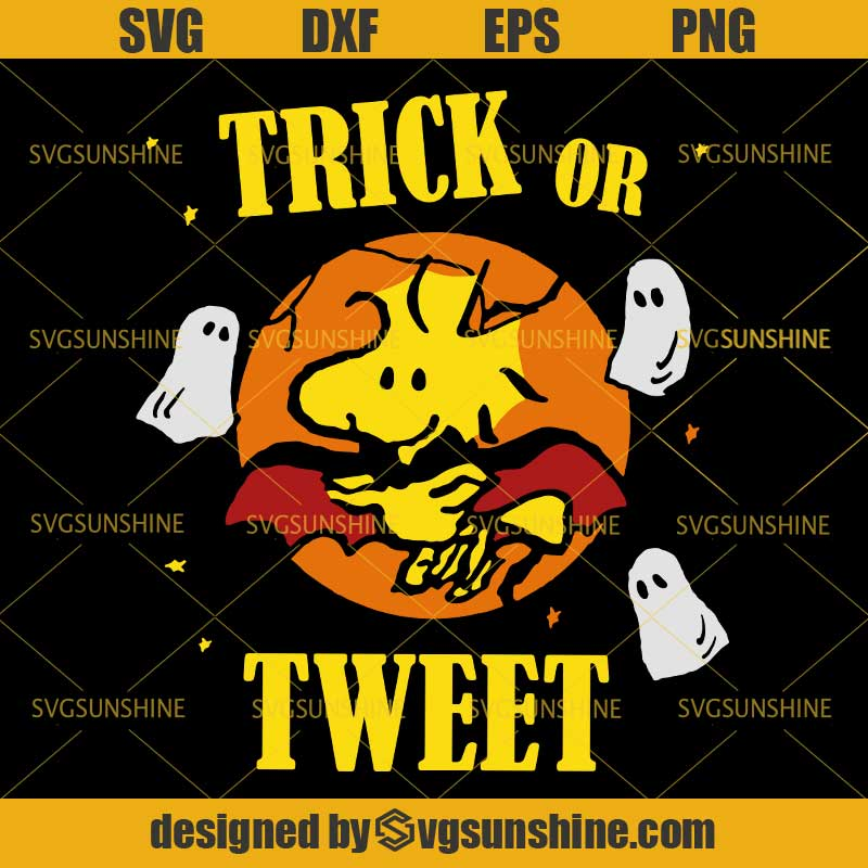 Peanuts Snoopy Trick Or Tweet Halloween Svg Snoopy Halloween Svg Dxf Eps Png Svgsunshine